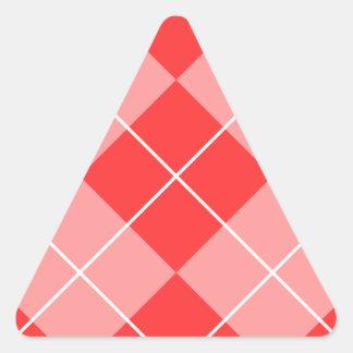 Argyle Pattern Image Triangle Sticker