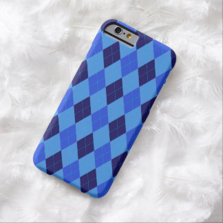 Argyle pattern in beautiful shades of blue barely there iPhone 6 case