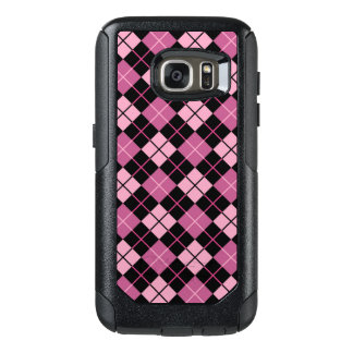 Argyle Pattern in Black and Pink OtterBox Samsung Galaxy S7 Case