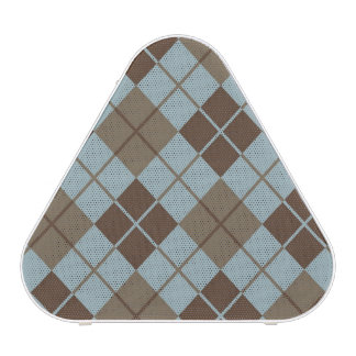 Argyle Pattern in Blue and Taupe Bluetooth Speaker