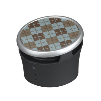 Argyle Pattern in Blue and Taupe Speaker