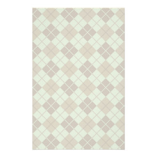 Argyle Pattern in Blue and Taupe Stationery