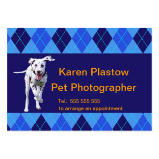Argyle pattern in blue customizable business card