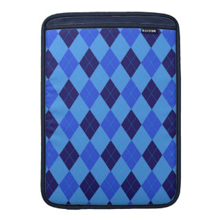 Argyle pattern in shades of blue beautiful MacBook air sleeves