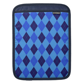 Argyle pattern in shades of blue beautiful sleeves for iPads