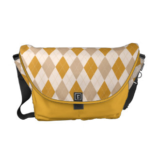 Argyle Pattern in Tan, Burnt Gold and Cream Bag