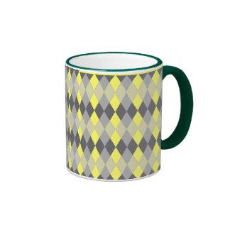 Argyle Pattern Coffee Mugs