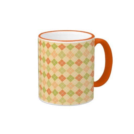 Argyle Pattern Mug Ringer Mug