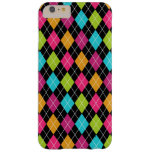Argyle Pattern Multi Color iPhone iPad iPod Galaxy Barely There iPhone 6 Plus Case