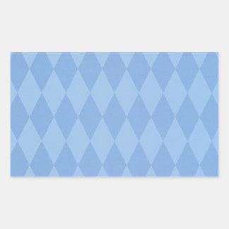 Argyle Pattern Rectangular Sticker