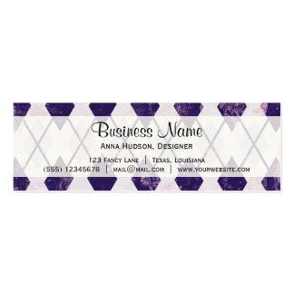 Argyle Pattern (Rhombus Pattern) - Purple White Business Cards