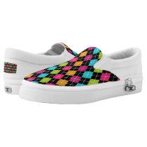 Argyle Pattern Slip-On Sneakers