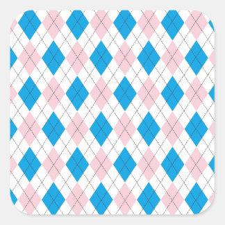 Argyle Pattern Square Sticker