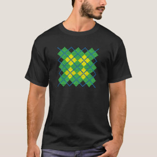 Argyle pattern with bricks (green, blue, yellow) T-Shirt