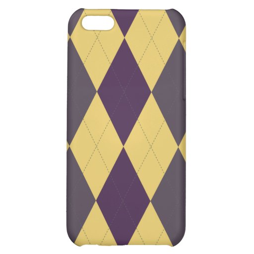 Argyle Patterned Iphone Case Cover For iPhone 5C