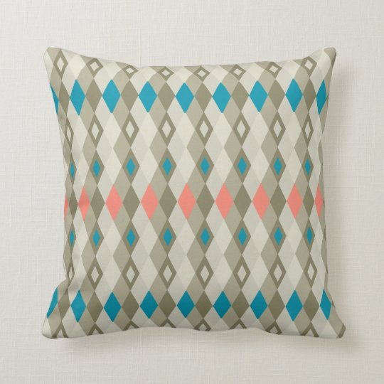 Argyle Patterned MoJo Pillow