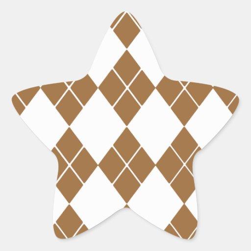 Argyle Pegatina En Forma De Estrella