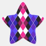 Argyle Pegatina Forma De Estrella Personalizadas