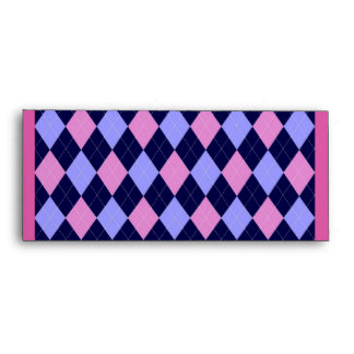 Argyle Pink & Blue Envelope