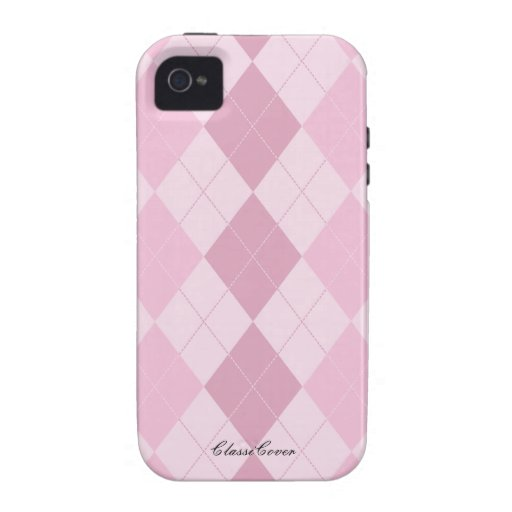 Argyle Pink Pattern Case Mate iPhone 4/4S Cover