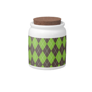 Argyle plaid candy dish. candy jar