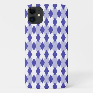 Argyle Plaid Pattern_4A46B0 iPhone 11 Case