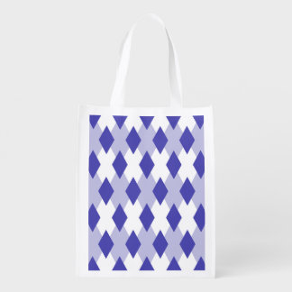 Argyle Plaid Pattern_4A46B0 Grocery Bag