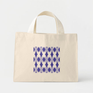 Argyle Plaid Pattern_4A46B0 Mini Tote Bag