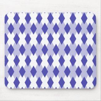 Argyle Plaid Pattern_4A46B0 Mouse Pad