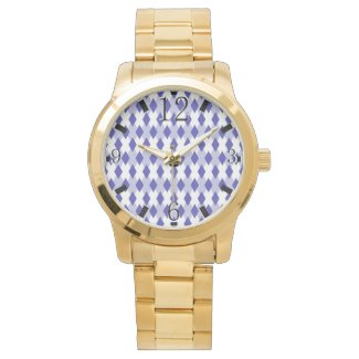 Argyle Plaid Pattern_4A46B0 Wrist Watch