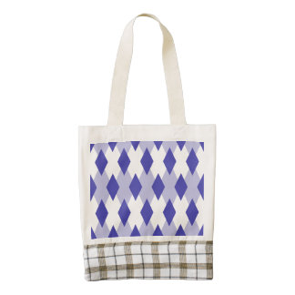 Argyle Plaid Pattern_4A46B0 Zazzle HEART Tote Bag