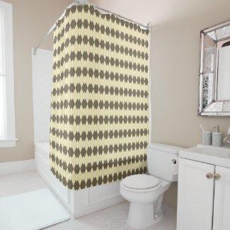 Argyle Plaid Pattern Sepia Shower Curtain
