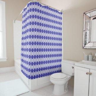 Argyle Plaid Pattern Shower Curtain