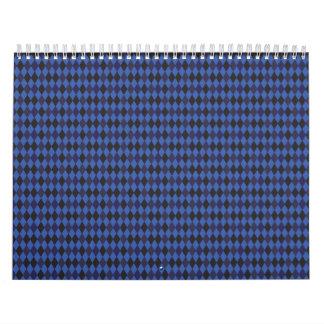 argyle print blue calendar
