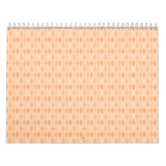 argyle print light orange wall calendar