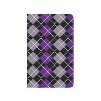 Argyle púrpura cuadernos