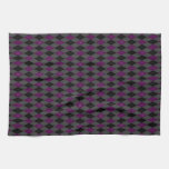 Argyle púrpura de lujo toalla de mano