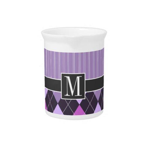 Argyle púrpura elegante jarra de beber