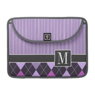 Argyle púrpura elegante fundas para macbooks
