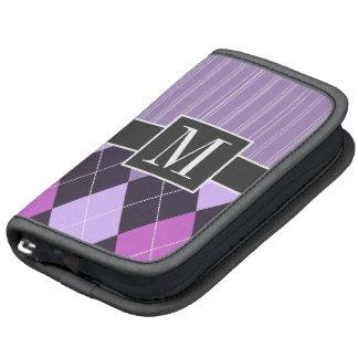 Argyle púrpura elegante planificador