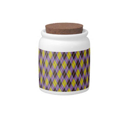 Argyle púrpura fresco estupendo lindo estupendo plato para caramelo