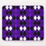 Argyle púrpura tapetes de ratón
