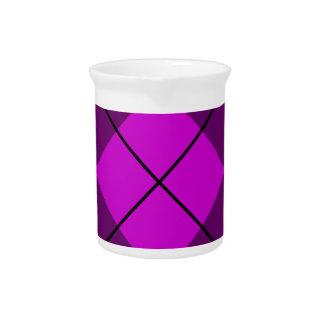 Argyle púrpura violeta jarras de beber