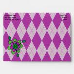Argyle púrpura y flor