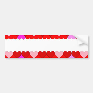 Argyle Red & Pink Hearts Pattern Bumper Sticker