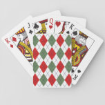 Argyle Red/White/Green Playing Cards