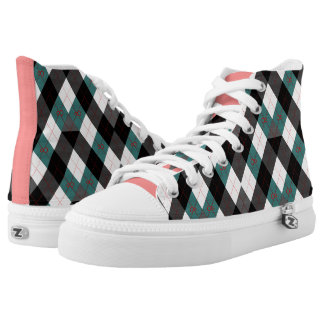 Argyle Revisited 3 High-Top Sneakers