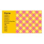 Argyle rosado amarillo en el naranja plantillas de tarjetas de visita