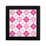 Argyle rosado caja de recuerdo