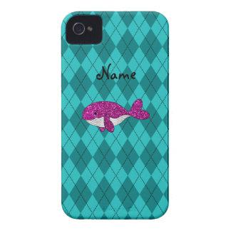 Argyle rosado conocido personalizado de la ballena iPhone 4 Case-Mate carcasa